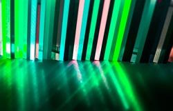 light through Stack of green Cast Acrylic Sheet