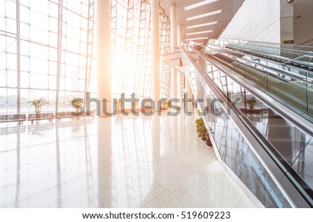 Light through the Modern Building #519609223