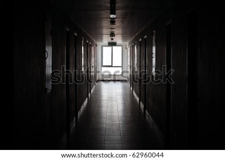 Light through window at corridor. #62960044