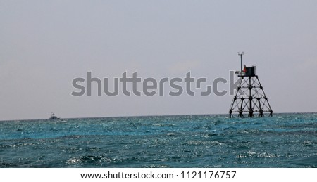 Light tower in the Florida Keys water #1121176757