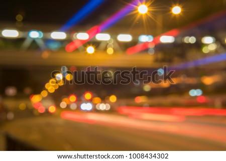 light trails backwards - Shutterstock ID 1008434302
