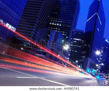 Light Trails of car
