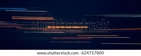Light trails on dark background