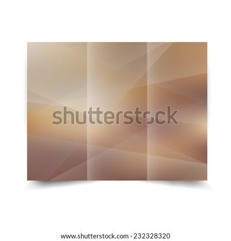 Light tri-fold brochure design template with abstract background. Tri-Fold Mock up & back Brochure Design