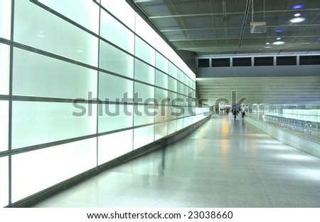 light wall perspective in subway station in Berlin