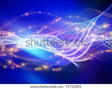 Light wave background suitable as a backdrop for projects on technology, entertainment, communications, sound and audio