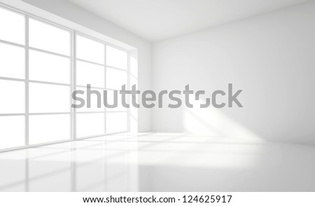 Shutterstock light white room and big window