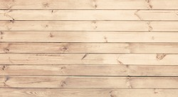 Light wood texture background. Wooden surface with natural pattern. Grunge Wallpaper with unpainted wood texture. Retro style timber horizontal wooden boards With Copy Space