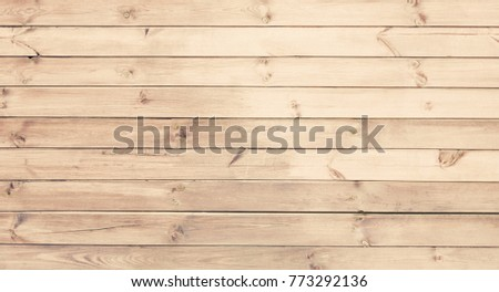 Light wood texture background. Wooden surface with natural pattern. Grunge Wallpaper with unpainted wood texture. Retro style timber horizontal wooden boards With Copy Space #773292136