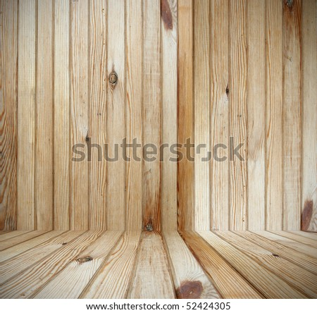 light wooden interior - stock photo