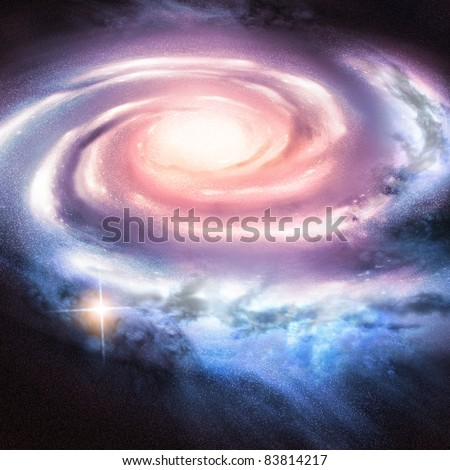 Light Years Away - Distant spiral galaxy.