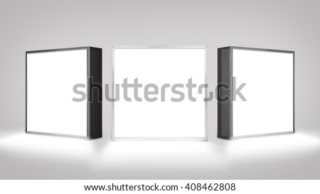 Lightbox On white Background 3D rendering