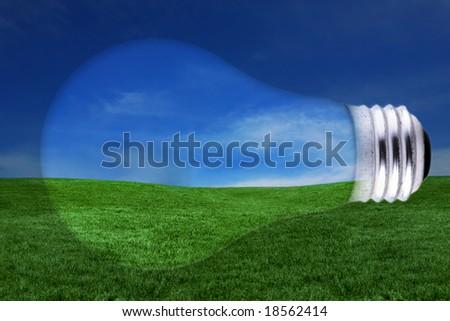 Lightbulb Concept Representing Global Energy Issues