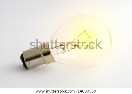 Lightbulb glowing bright without any power source