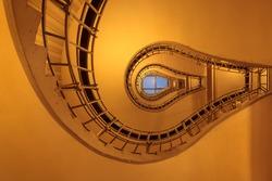 Lightbulb shaped staircase in Prague