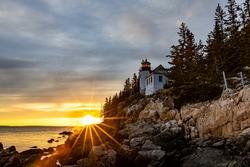 Lightburst at the Bass Harbor Head Light House