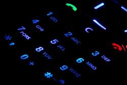 Lighted cell phone keypad