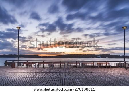 lighted pier