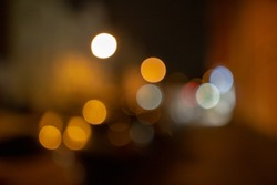 Lighteffects. Blurred Street Light Effect. A moody and urban scenery at night.