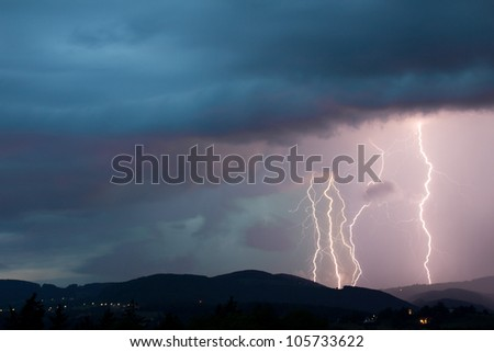lightening bolt - stock photo