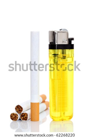 Lighter and cigarettes