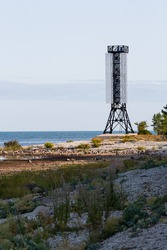 Lighthouse and the towers in Vormsi island, estonia