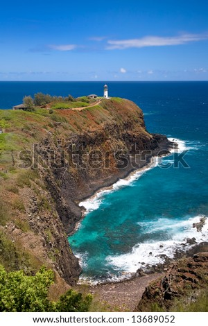 Lighthouse and Wildlife Refuse at Kilauea Point, Kauai, Hawaii