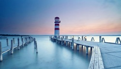 Lighthouse at Lake Neusiedl (Podersdorf am See, Burgenland, Austria)