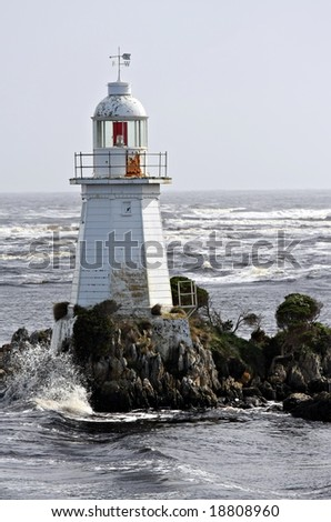 Lighthouse at Macquarie Heads near Strahan Tasmania