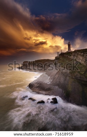 Lighthouse before the storm