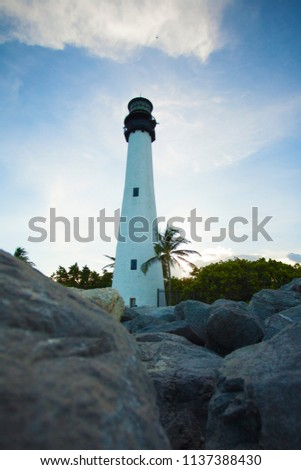 lIGHTHOUSE BISCAYNE KEY BILL BAGGS CAPE FLORIDA STATE PARK #1137388430