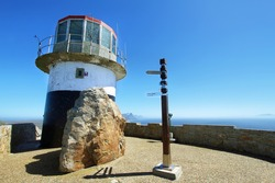lighthouse Cape point in Cape peninsula near Cape Town
