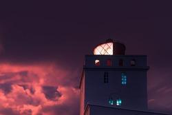 Lighthouse during sunset - iceland