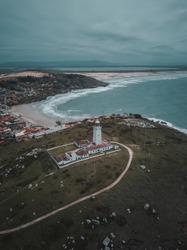 Lighthouse Farol de Santa Marta South Brazil America Beach Surf