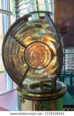 lighthouse fresnel lens #1118168462