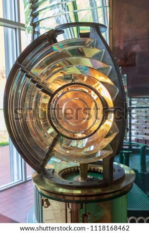 lighthouse fresnel lens #1118168462