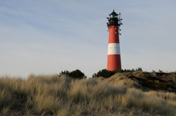 Lighthouse Hörnum on the North Sea island of Sylt