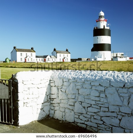 lighthouse, Hook Head, County Wexford, Ireland - stock photo