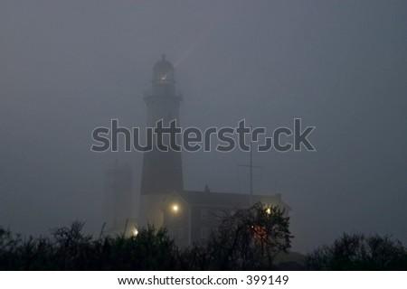 Lighthouse in a fog