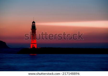 Lighthouse in Bodrum Turgutreis Turkey