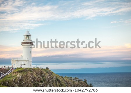 lighthouse in Byron Bay Australia #1042792786