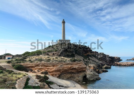 Lighthouse in Cape of Palos, Spain