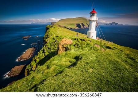 Lighthouse in Faroe Islands