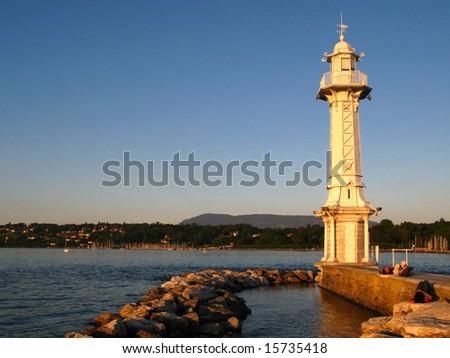 Lighthouse in Geneva, Switzerland
