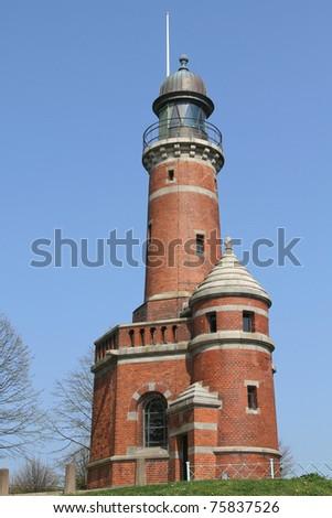 lighthouse in Kiel-Holtenau, Germany