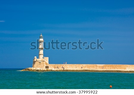 Lighthouse in most beautiful city of Crete - Chania