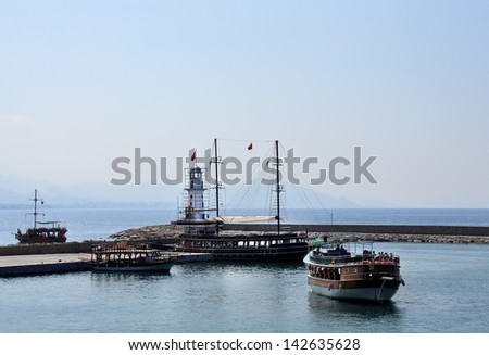 Lighthouse in port Alanya, Turkey