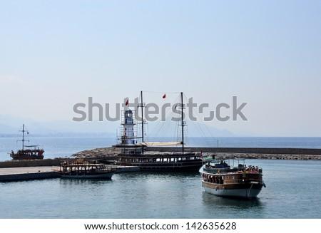 Lighthouse in port Alanya, Turkey