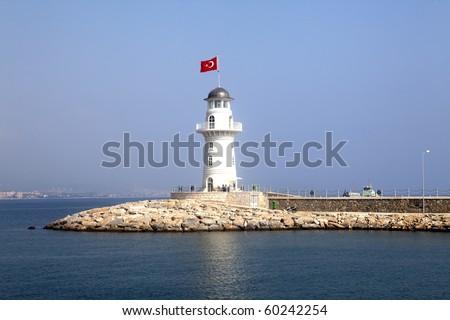 Lighthouse in port Alanya -Turkey