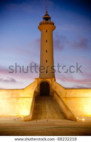 Lighthouse in Rabat, Morocco. - stock photo